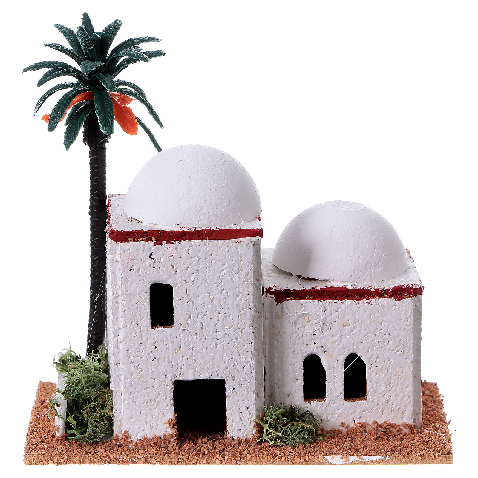 Arabian style house with palm measuring 12x7x13cm 4