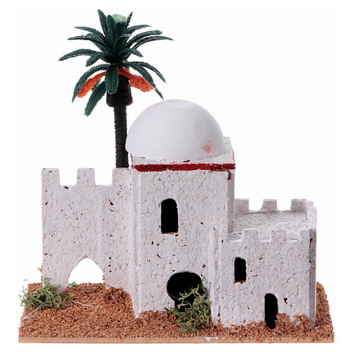 Arabian style house with palm measuring 12x7x13cm 5