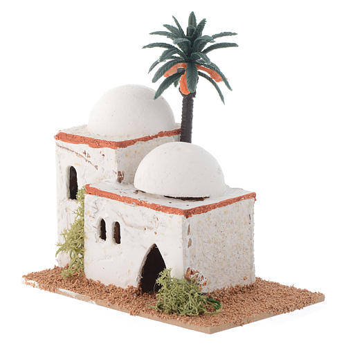 Arabian style house with palm measuring 12x7x13cm 2
