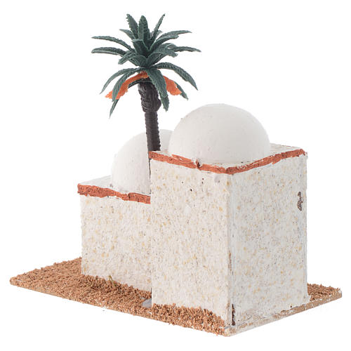 Arabian style house with palm measuring 12x7x13cm 3