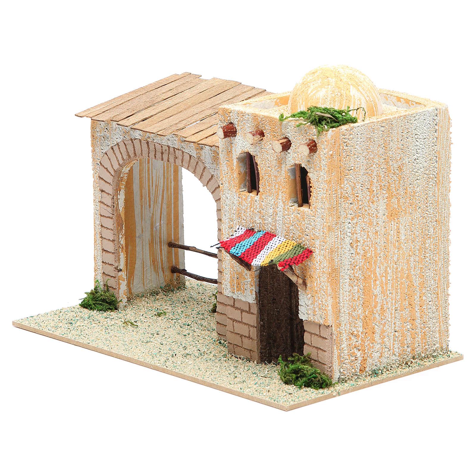 Casa árabe con pórtico 22x13x14 cm 4