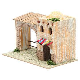 Casa árabe con pórtico 22x13x14 cm s2