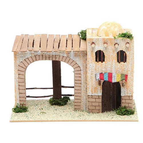 Casa árabe con pórtico 22x13x14 cm 1