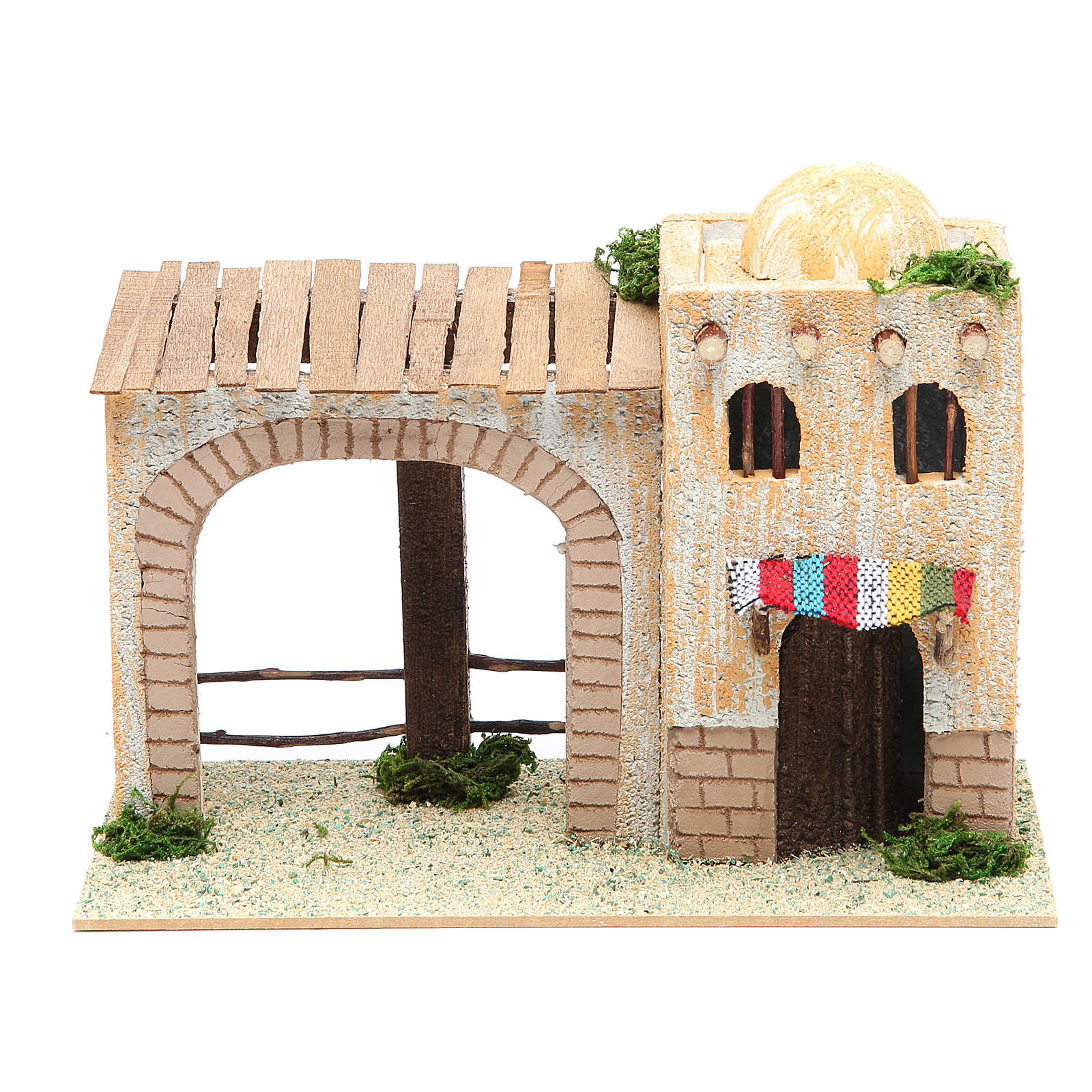 Maison arabe avec véranda 22x13x14 cm 4