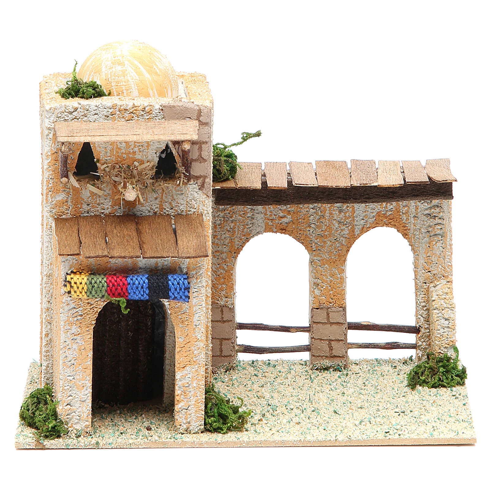 Arabian style house, assorted models, measuring 17x10x12cm 4