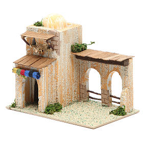 Arabian style house, assorted models, measuring 17x10x12cm s2
