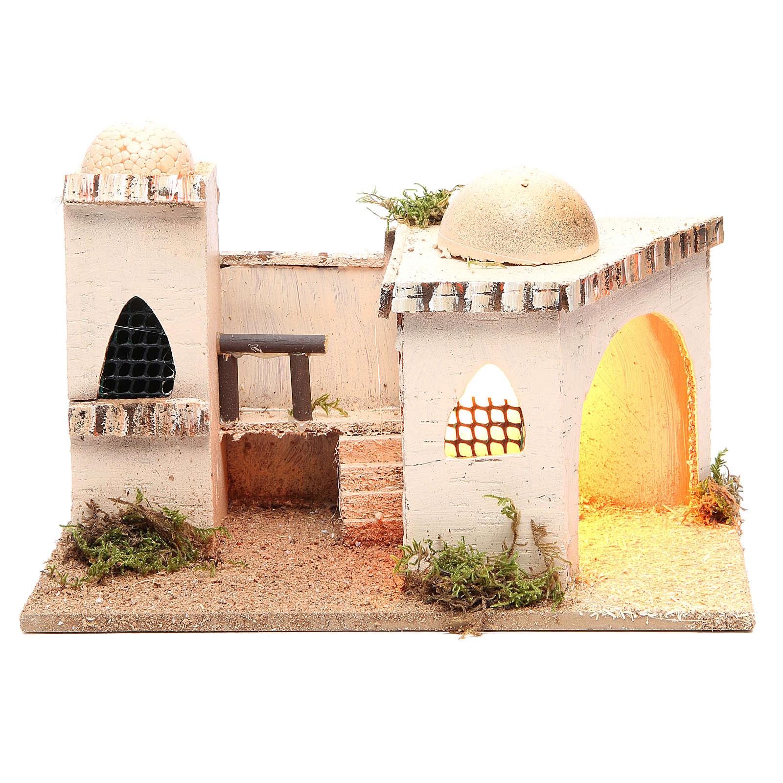 Casa araba con luce 27x16xh.13cm 4