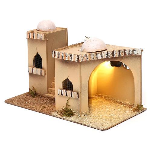 Casa araba con luce 27x16xh.13cm 2