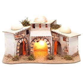 Maisons arabe composition 28x18x14 cm avec éclairage s1