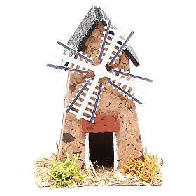Mill in cork for nativities measuring 5x7x9cm s1