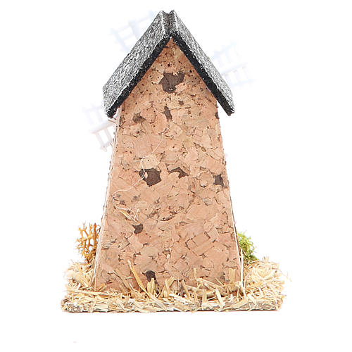Mill in cork for nativities measuring 5x7x9cm 2