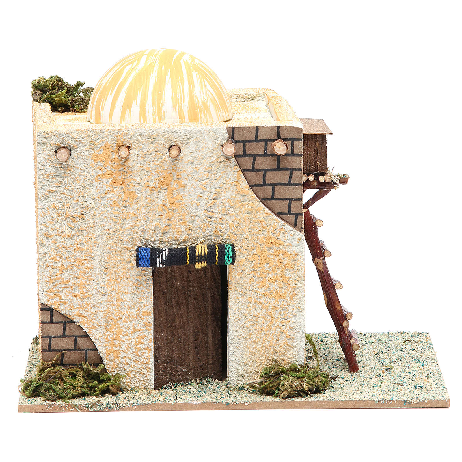 Arabian style house with ladder measuring 22x13x17cm 4