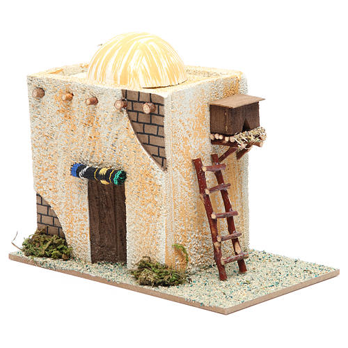 Arabian style house with ladder measuring 22x13x17cm 2