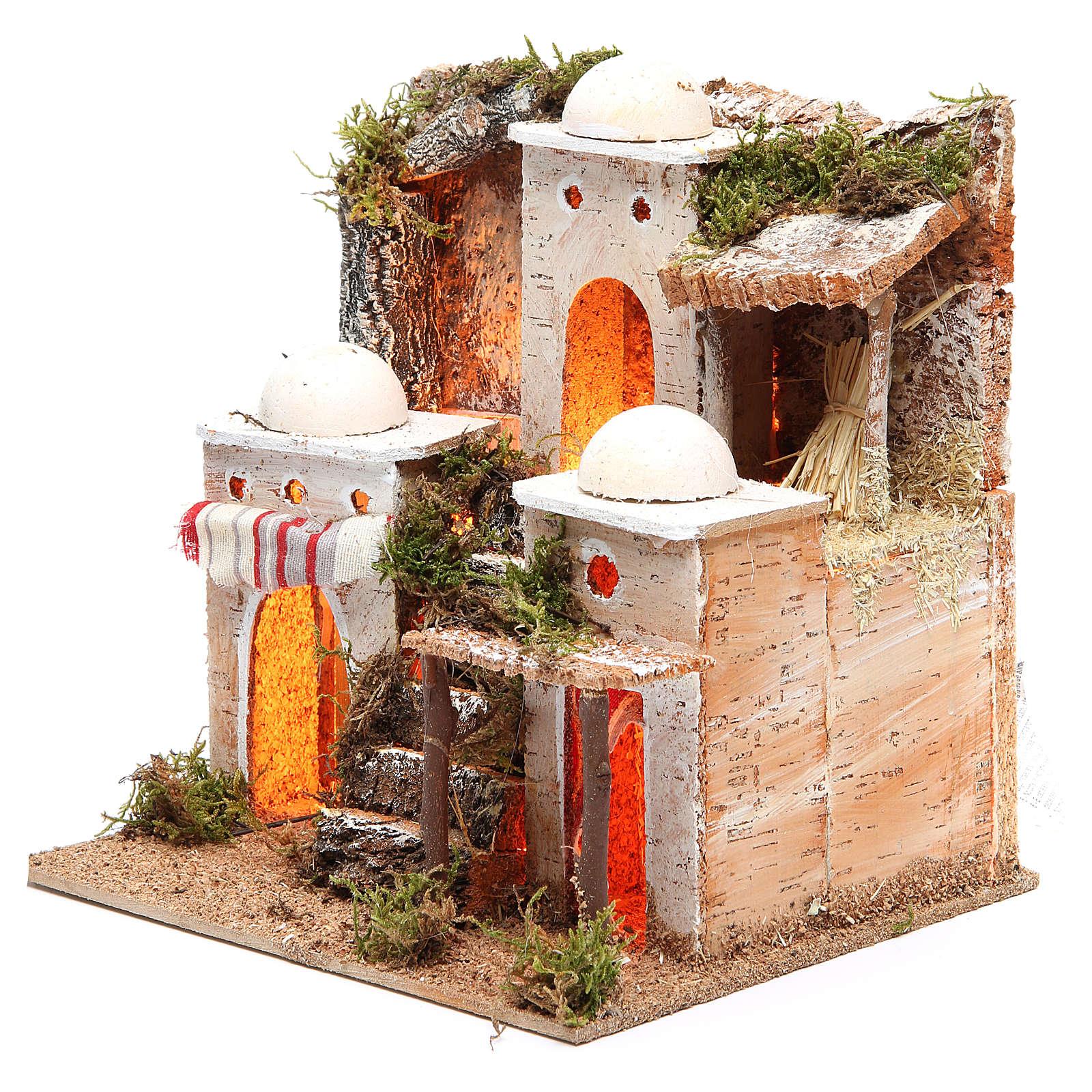 Borgo arabo con luce 21x23xh.23 cm 4