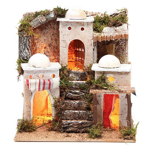 Borgo arabo con luce 21x23xh.23 cm 1