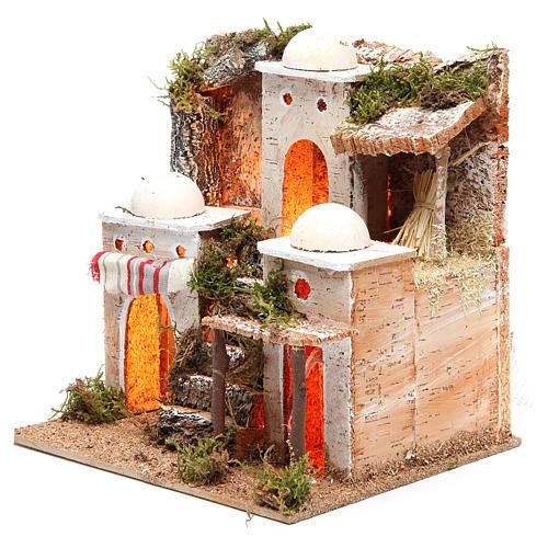 Borgo arabo con luce 21x23xh.23 cm 2