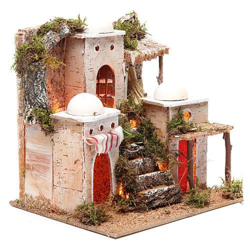 Borgo arabo con luce 21x23xh.23 cm 3