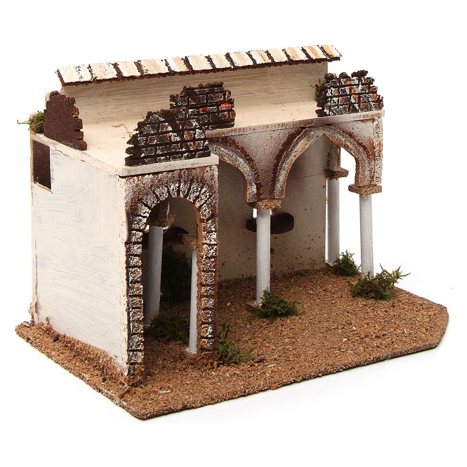 Bâtisse avec porche arabe 28x17x19 cm 4