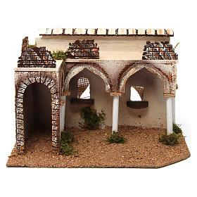 Bâtisse avec porche arabe 28x17x19 cm s1