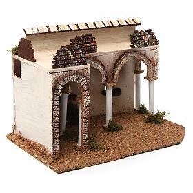 Bâtisse avec porche arabe 28x17x19 cm s3