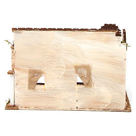 Bâtisse avec porche arabe 28x17x19 cm s4