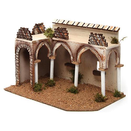 Bâtisse avec porche arabe 28x17x19 cm 2