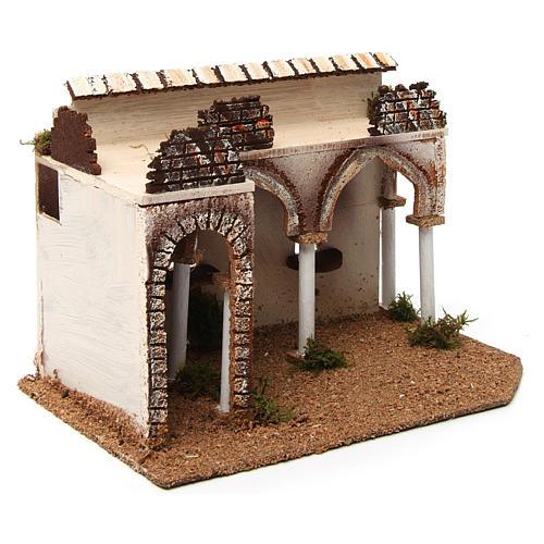 Bâtisse avec porche arabe 28x17x19 cm 3