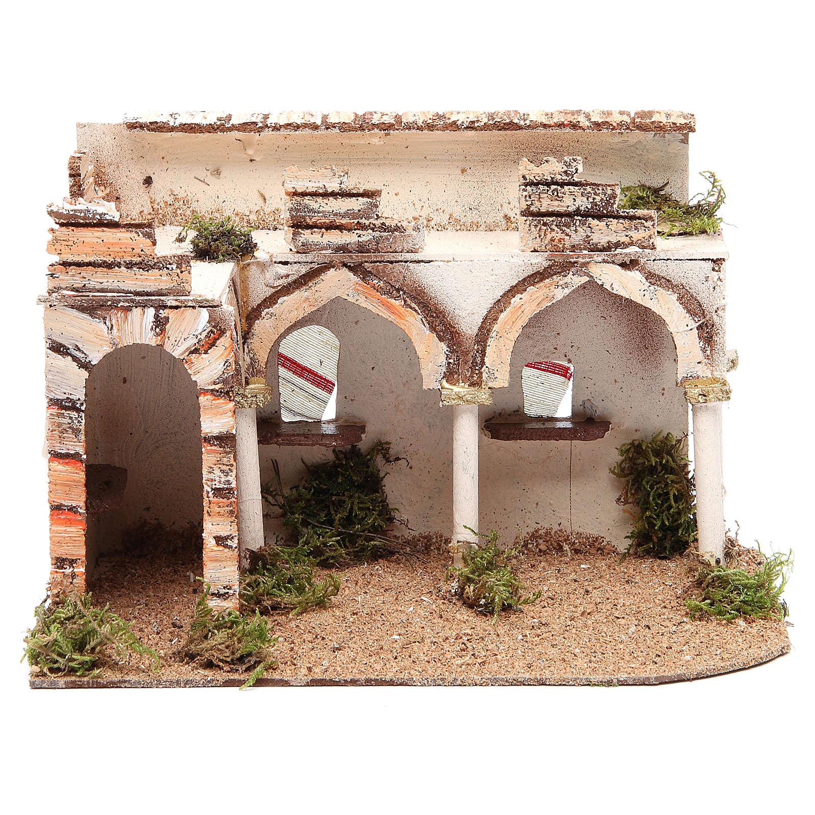 Palazzo con portico arabo 28x17xh.19 cm 4