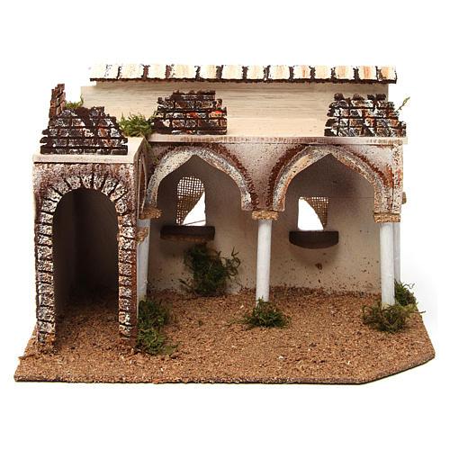 Palazzo con portico arabo 28x17xh.19 cm 1