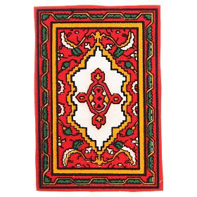 Tappeto per presepe rosso 7x10,5 cm s1