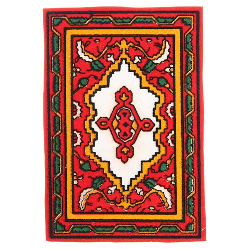 Tappeto per presepe rosso 7x10,5 cm 1