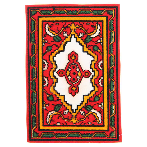 Carpet for nativities in red fabric, 7x10.5cm 1