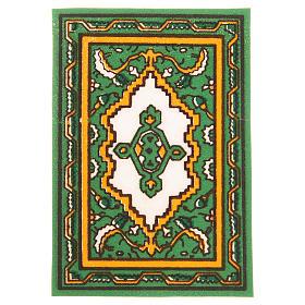 Tappeto per presepe verde 7x10,5 cm s1