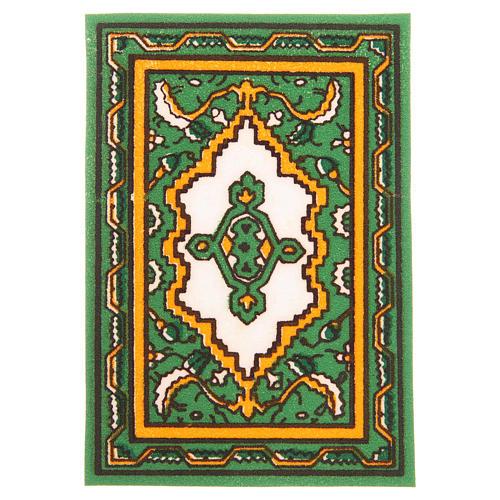 Tappeto per presepe verde 7x10,5 cm 1