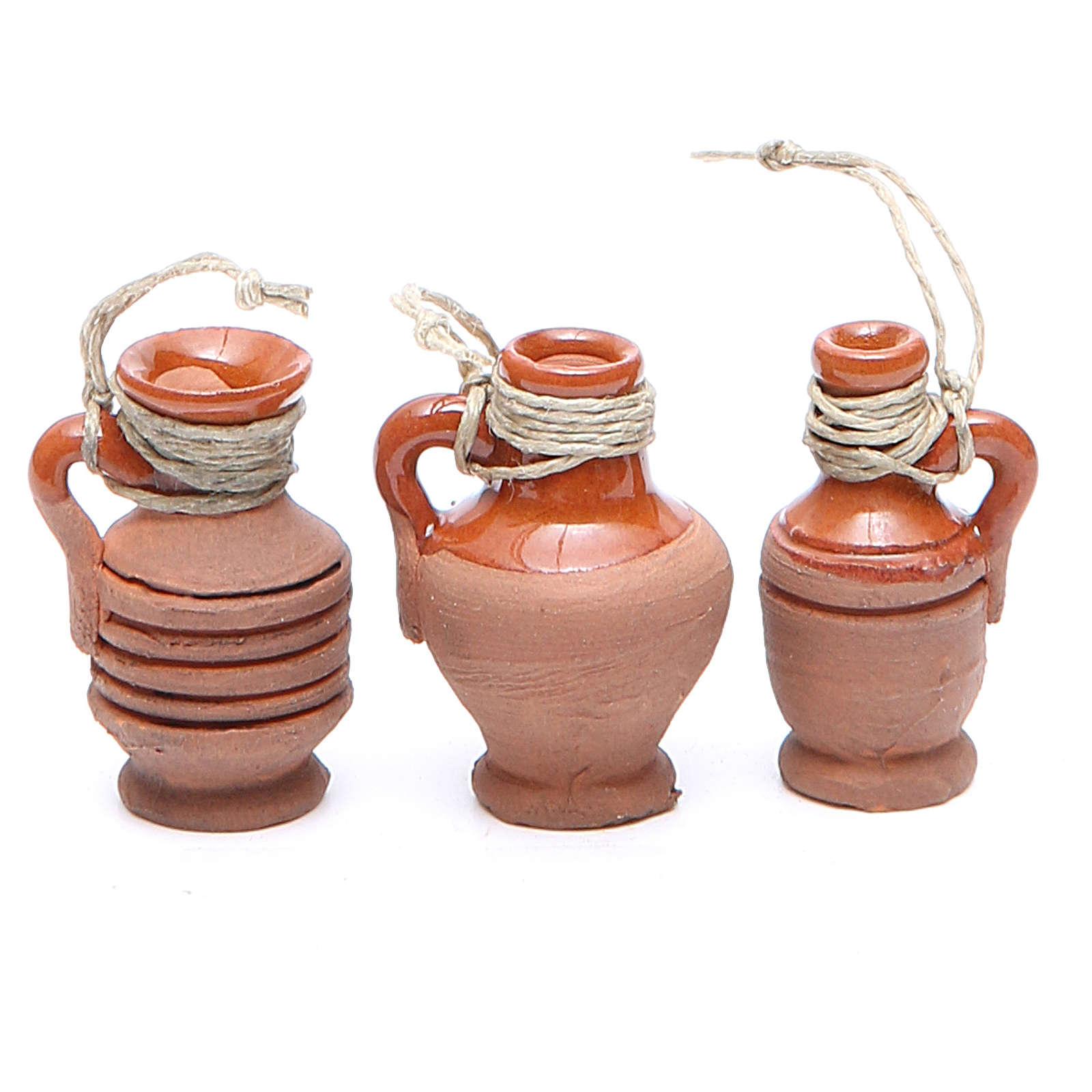 Botellas terracota 3 cm modelos surtidos 4