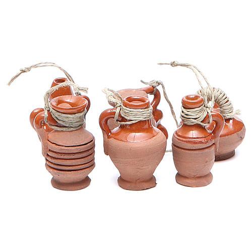 Botellas terracota 3 cm modelos surtidos 1