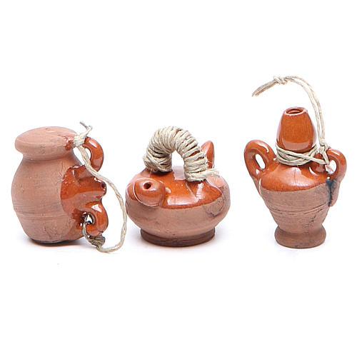 Bottigliette terracotta 3 cm modelli assortiti 2