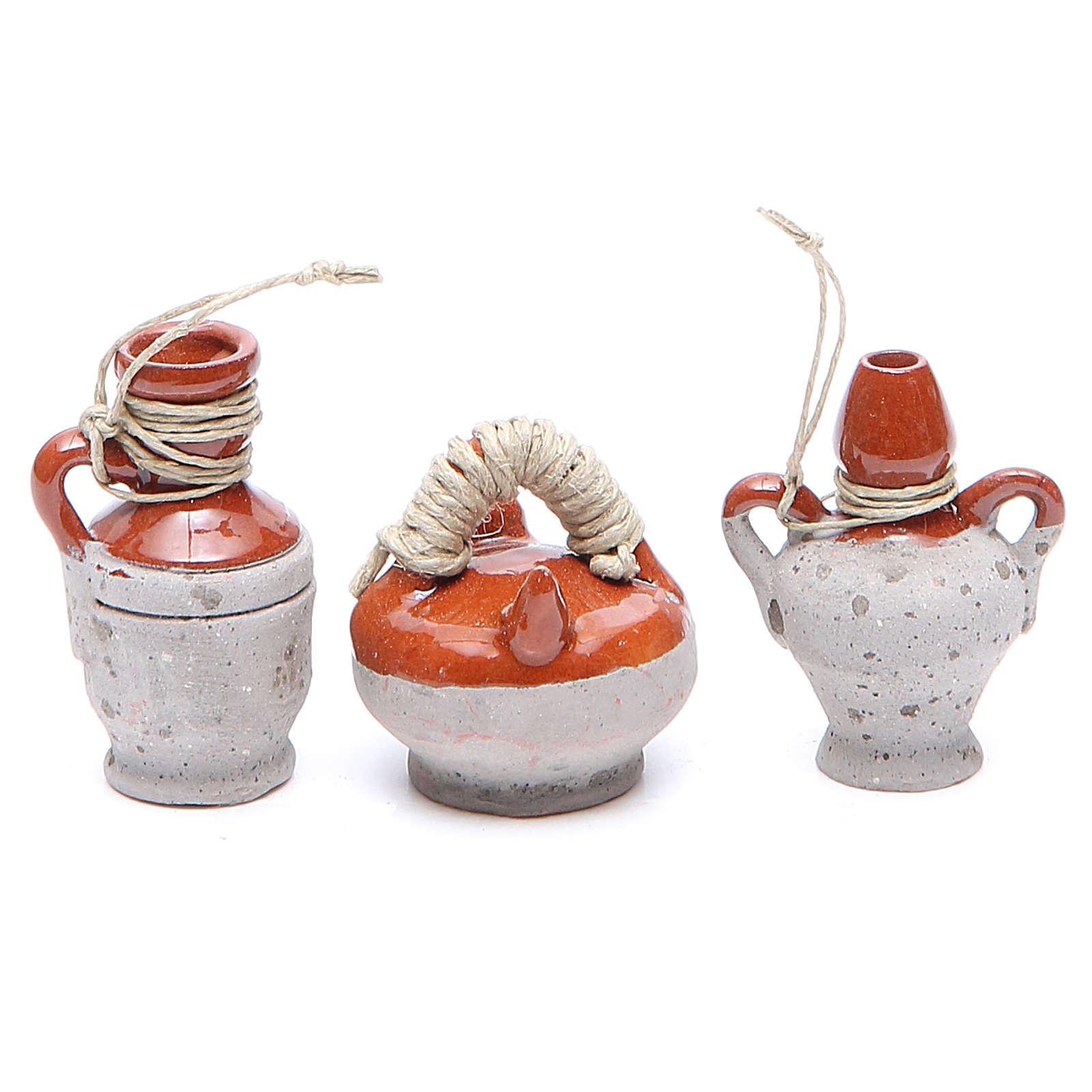 Bottles in terracotta for DIY nativities, 4cm assorted models 4