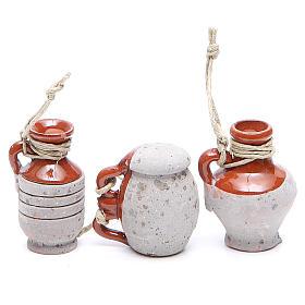 Bottles in terracotta for DIY nativities, 4cm assorted models s3