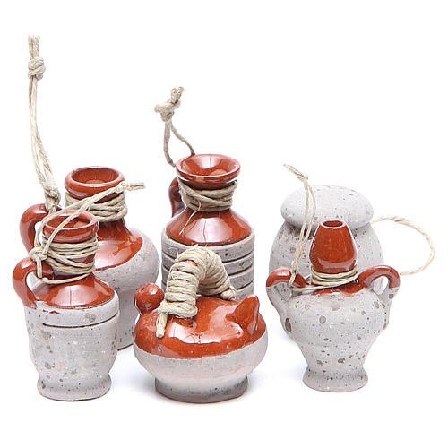 Bottles in terracotta for DIY nativities, 4cm assorted models 1