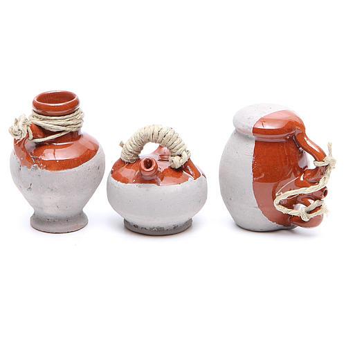Botellas terracota 5 cm modelos surtidos 6 piezas 2