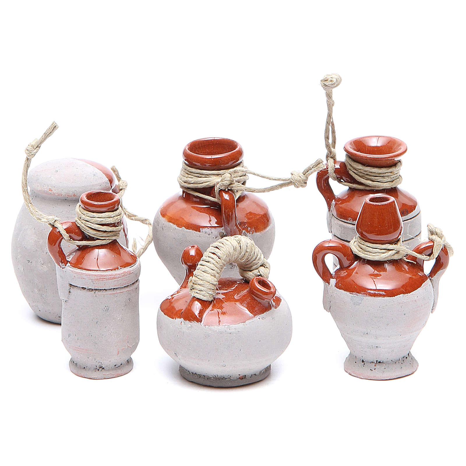 Bottles in terracotta for DIY nativities, 5cm 6pieces 4
