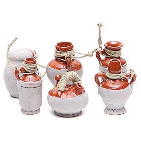 Bottles in terracotta for DIY nativities, 5cm 6pieces s1