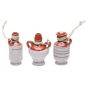 Bottles in terracotta for DIY nativities, 5cm 6pieces s3