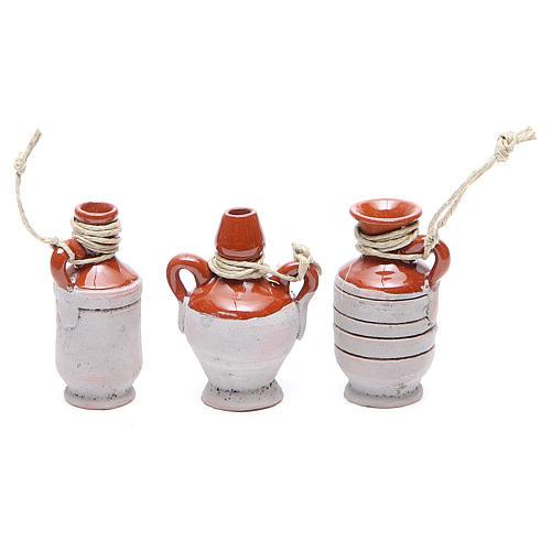 Bottles in terracotta for DIY nativities, 5cm 6pieces 3