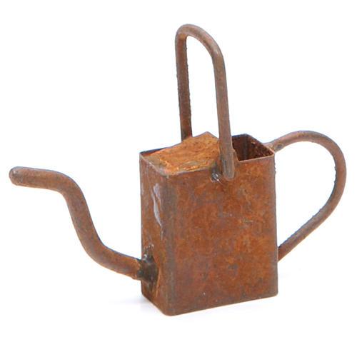 Arrosoir vieilli en métal crèche 1