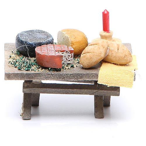 Stół z jedzeniem 7x4xh. 3,5 cm różne modele 2