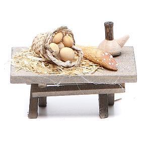 Acessórios de Casa para Presépio: Mesa com comida 7x4x3,5 cm modelos vários
