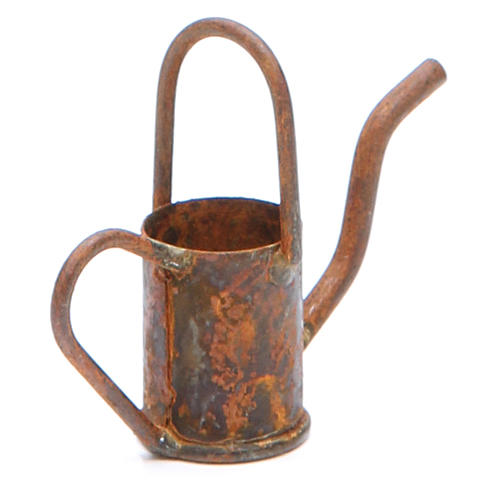 Watering can in metal with antique finish for DIY nativities 2