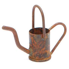Annaffiatoio presepe in metallo antichizzato s1